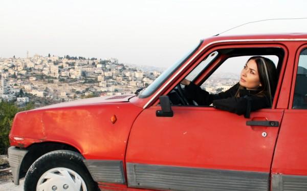 Leila Sansour filming Open Bethlehem. Image copyright of Open Bethlehem.