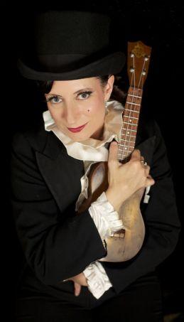 Tricity Vogue and her ukulele Photograph by Sin Bozkurt