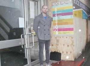 Ed Lofts, project coordinator, outside Rock House.
