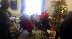 Christmas dinner for the elderly at St Matthews last year.
