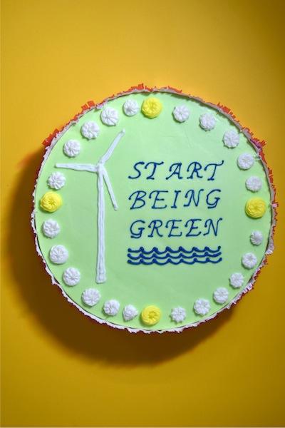 'Start being green' cake