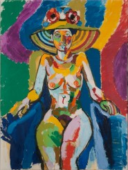 Diane in Sun Hat, John Bratby (date unknown) ©The Artist's Estate(1)