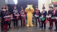 Section 5 drummers and Pudsey Bear attended the sale in Stade Hall.