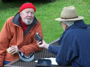 Phil Sutcliffe interviewing Pete Seegar