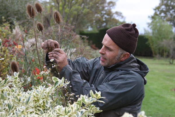 Fergus Garrett in the gardens at Great Dixter.