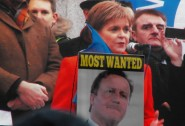 Nicola Sturgeon speaking at the rally Photo ZR