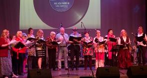 The Conquest Choir, including Macmillan nurses.