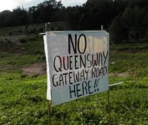 Sea Change's Queensway Gateway road project drew widespread opposition (photo: Combe Haven Defenders).