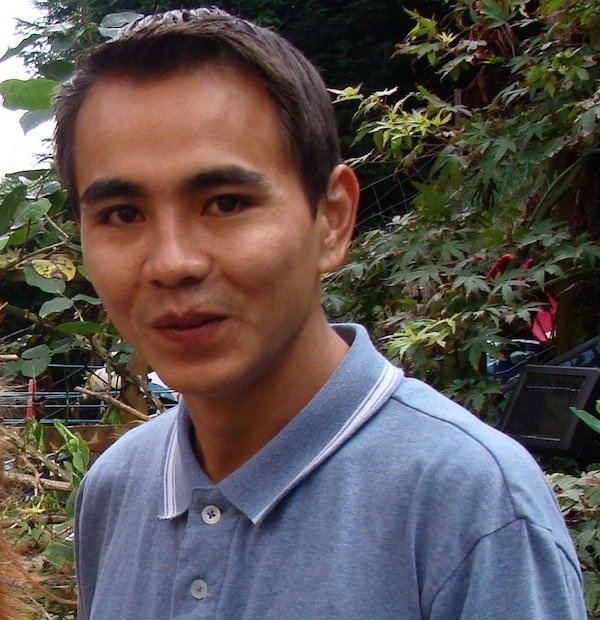 Javad in the garden