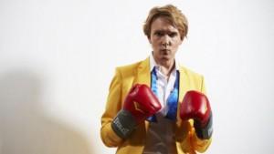 Professor Will Brooker dressed as David Bowie in Let's Dance era