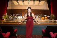 Winner Tzu-Yn Huang in the White Rock Theatre, scene of her triumph.
