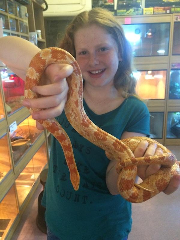 Jessamy with the snake
