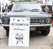 Entrance to the Vauxhall Art Car Boot Fair 2015 on Sunday 14th June 2015   Photo by Dave Benett
