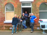 The gardening team at the station
