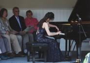Last year's winner, , gives a summer recital at Fairlight Hall.