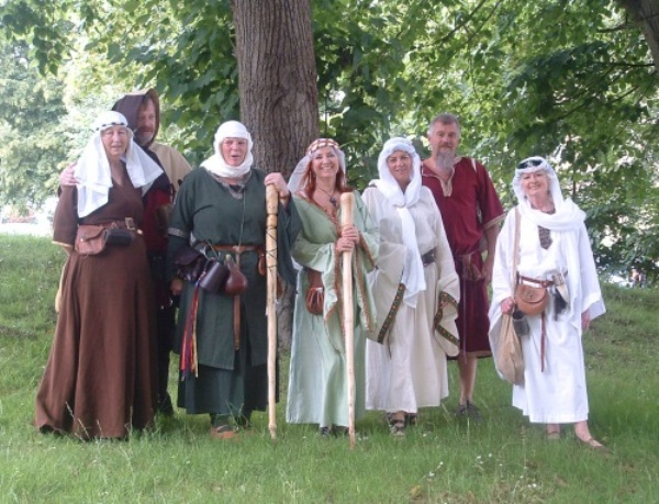 re-enacting the pilgrimage to Hastings Castle: one way of celebrating 1066.