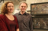 Rachael and Michael Linton, creations of the Medieval Mosaic.
