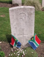 The only gravestone in Hastings Cemetery with South Africa flags and the resting-place of a black seaman who perished in WWI: one of the stories to be told  of J Nguza - 'found' by local historians in Hastings cemetery