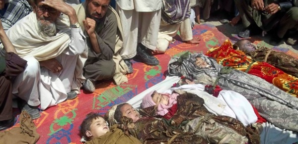 Child victims of the war in Afghanistan. The UK's military operations are funded by our taxes.