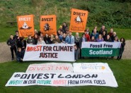Members of organisations from East Sussex and across the UK at the first UK-wide gathering of fossil fuel divestment campaigners