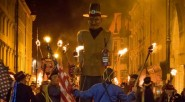 Street action: the torchlight procession and bonfire takes place on Saturday 15th (photo: Hastings Borough Bonfire Society).