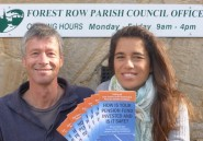 Campaigners deliver the brochure to Forest Row Parish Council.