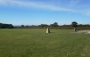 Looking across the recreation ground of Harrow Lane towards the sea.