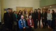 Roger Mitchell and Isabel Hodger with course members.