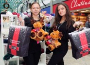 Black Friday Promotion. Priory Meadow Shopping Centre Hastings. 14-11-16. Picture by: TONY COOMBES. Adele Wilson and Rebecca Medhurst from The Perfume Shop help promote the up and coming Black Friday event at Priory Meadow Shopping Centre.