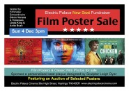 Film Poster Sale at the Electric Palace Sunday 4 December at 3pm