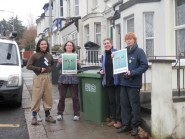 Hastings Green Party members collecting signatures for food waste petition