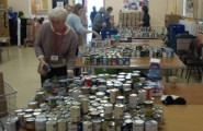 Tinned food for hampers.