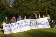 Members of Hastings and Rye Green Party display their banner in Alexandra Park (photo: HGP).