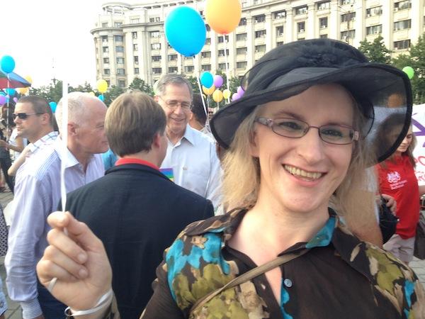 Penny Panagi in Bucharest 2012.