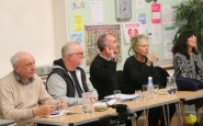 At the meeting: Peter Meech, left, Mole Meade, Clive Gross, Helen and Kay Avery-Stallion.