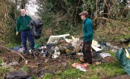 No shortage of rubbish to be cleared from Speckled Wood. Before...