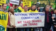 Pensioners make their views known.
