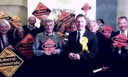 Nic Perry with Lib Dem colleagues.