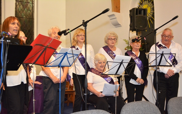 The Silver Tones, a group of dementia sufferers and carers, perform in public.
