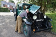 David Hance and his Bedford lorry. Photo Colin Foy