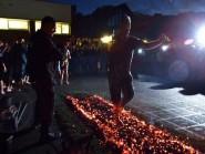 Fire walking on hot coals