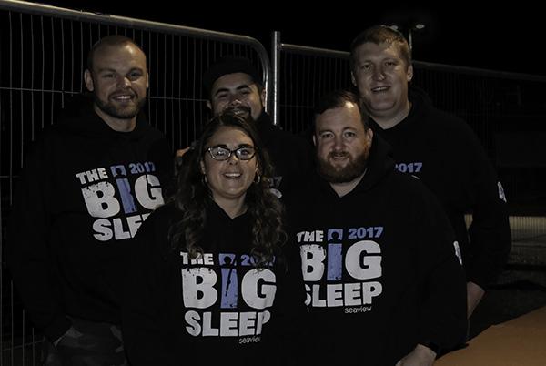 Big Sleepers in their 2017 sweatshirts. Photo John Stiles
