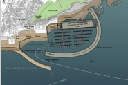 The draft plan for the harbour development