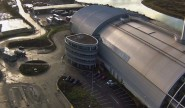 Aerial view of Newhaven incinerator