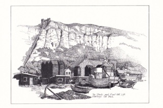 Rock A Nore : Print by David Saunders 1987, Peny Beale's father.