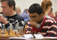Intense concentration at Hastings International Chess Congress.