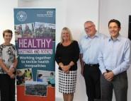 Carole Dixon (Education Futures Trust), Stephanie Edmonds (Fellowship of St Nicholas), Ruairi McCourt (Sussex Community Development Association), Richard Watson (Healthy Hastings and Rother)