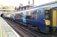 Southeastern service to Charing Cross arrives at St Leonards Warrior Square station.