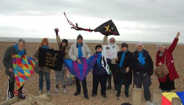 Hastings beach: Fly Kites Not Drones