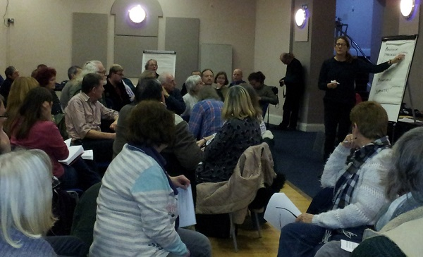Discussing how best to secure the pier as a community asset.
